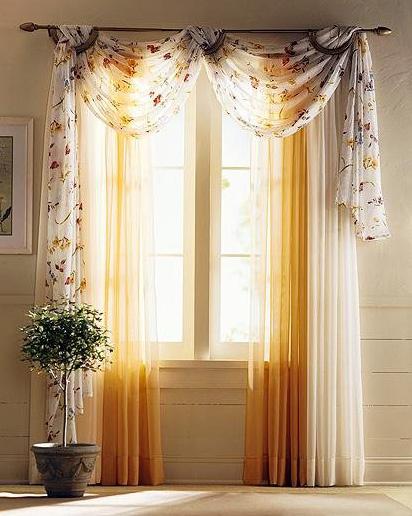 Дизайн гардин на окнах